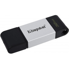 Kingston DataTraveler 80 Memoria USB Tipo C 32GB - USB-C 3.2 Gen 1 - 200 MB/s en Lectura - Con Tapa - Diseño Metalico (Pendrive)