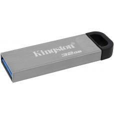 Kingston DataTraveler Kyson Memoria USB 32GB - 3.2 Gen 1 - 200 MB/s en Lectura - Diseño Metalico - Color Plata (Pendrive)