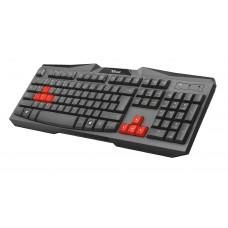 Trust 21958 Teclado USB Gaming Ziva Negro
